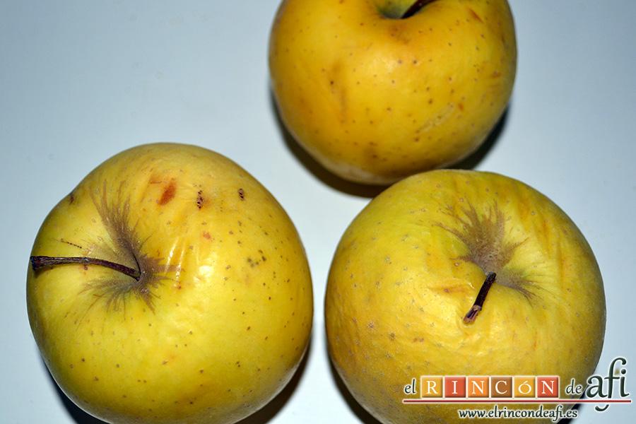 Tarta tatín, preparamos las manzanas