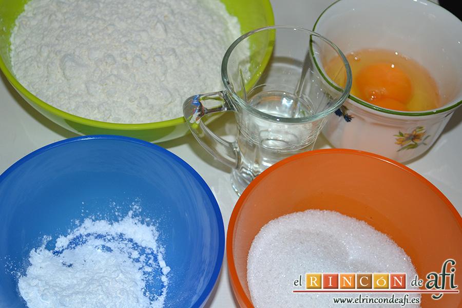 Huesos de San Expedito, preparar los ingredientes