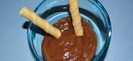 Helado instantáneo de plátano y chocolate