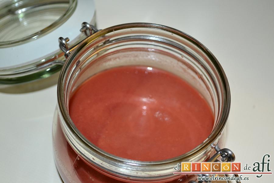 Gazpacho de cerezas, sugerencia de conservación