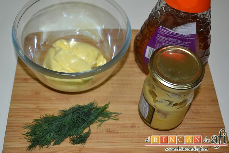 Salsa de eneldo, preparar los ingredientes
