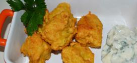 Buñuelos de pez espada con cúrcuma