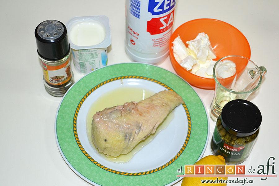 Crema de atún, preparar los ingredientes