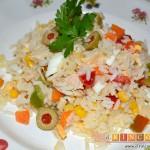 Ensalada de arroz, sugerencia de presentación