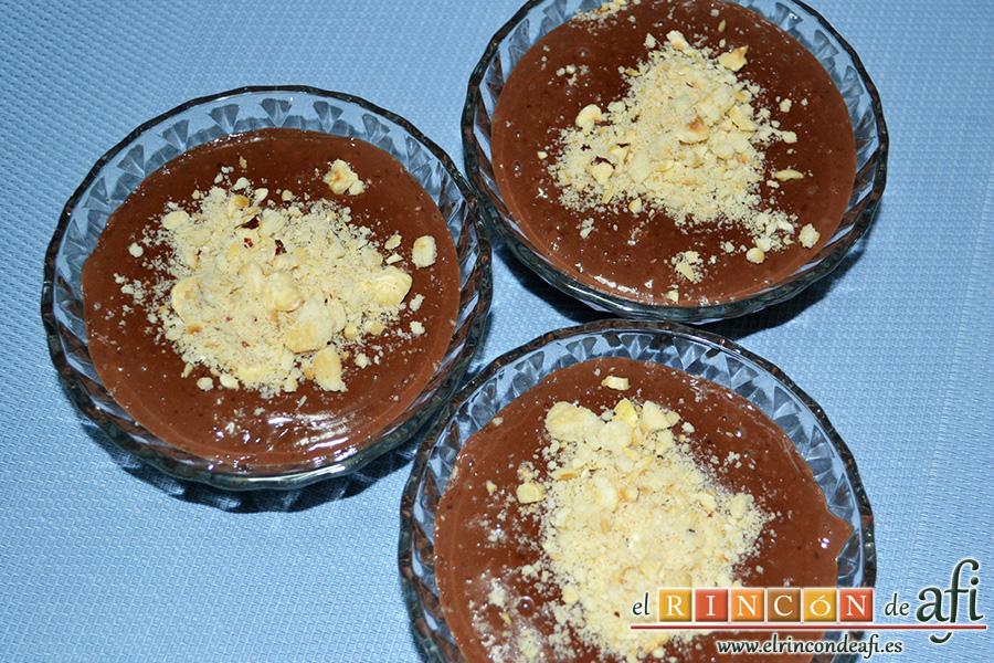 Natillas de chocolate, sugerencia de presentación