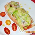 Salmón en papillote con verduras