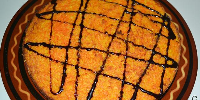 Tarta de zanahoria y coco