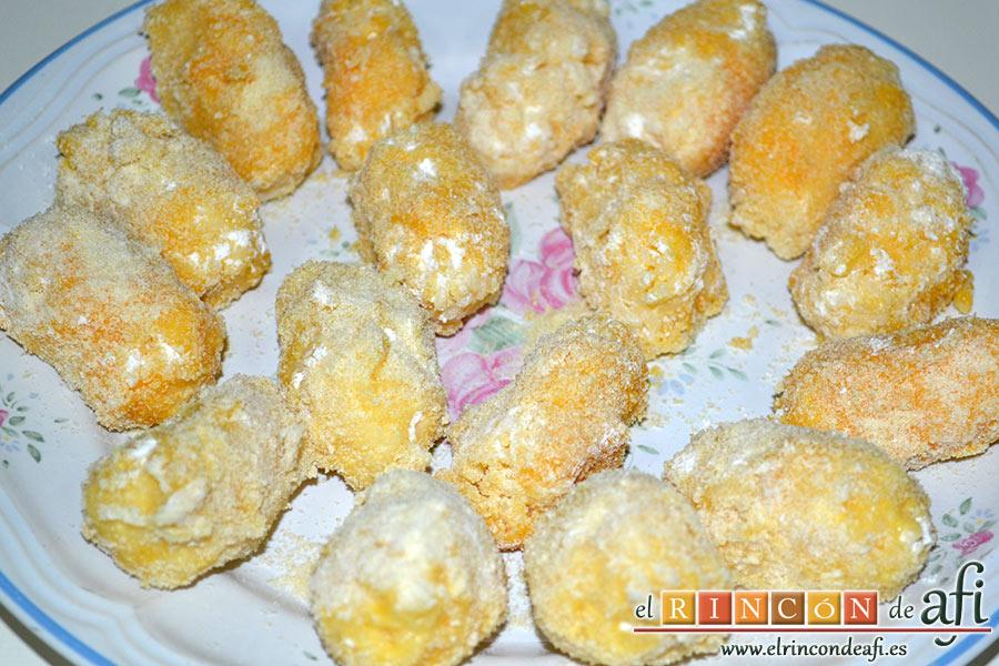 Croquetas de arroz y queso, reservar