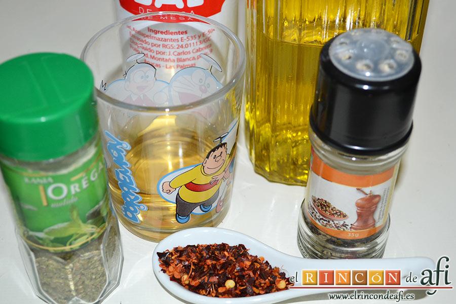 Guiso de salchichas con berenjenas, preparar el resto de ingredientes