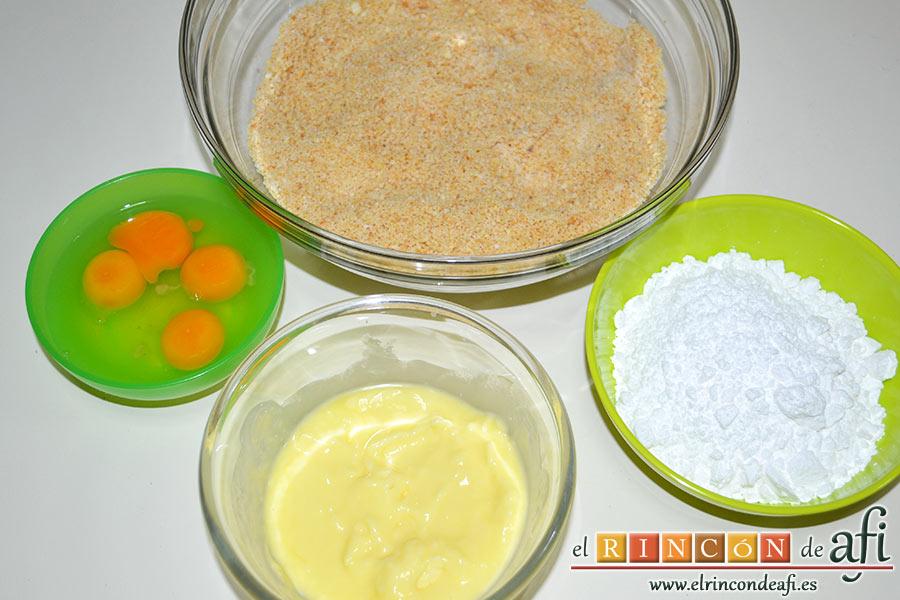 Tarta de Santiago, preparar los ingredientes
