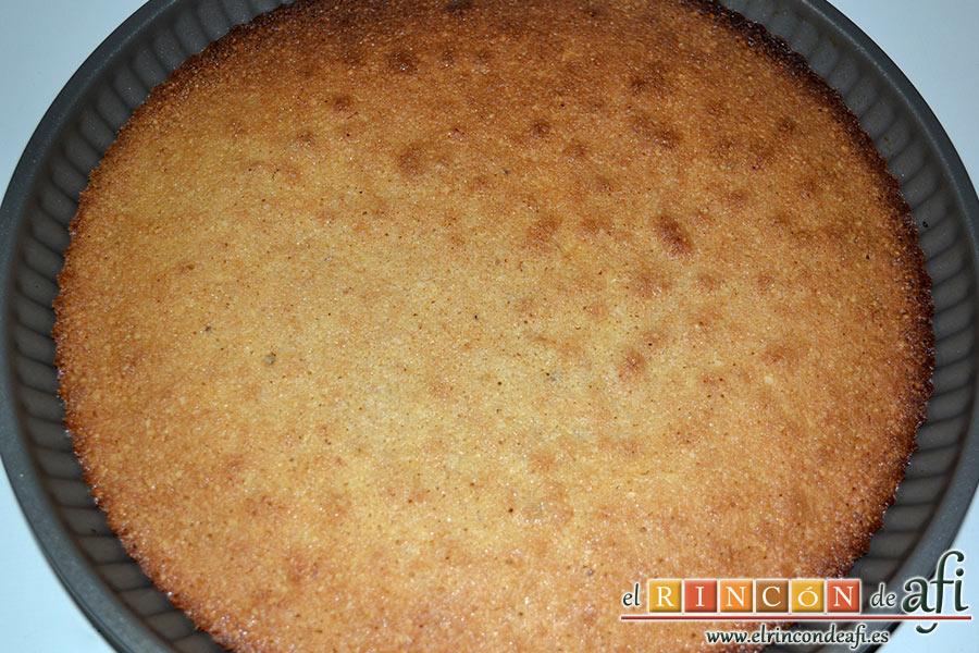 Tarta de Santiago, sacar del horno y dejar enfriar