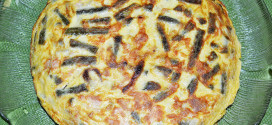 Tortilla con atún y habichuelas