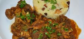 Pollo adobado al Ras-El-Hanout con setas