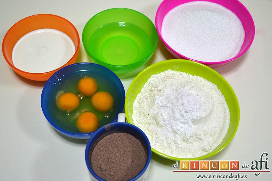 Tarta de San Valentín, preparar los ingredientes