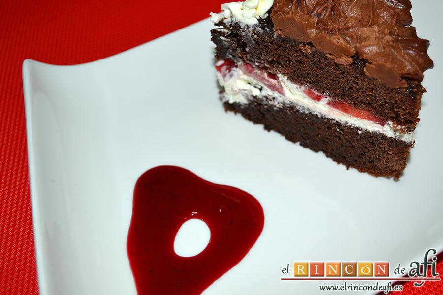 Tarta de San Valentín, sugerencia de presentación