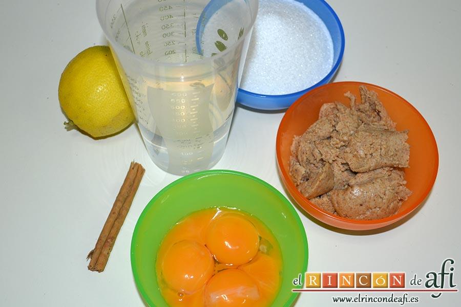 Bienmesabe canario, preparar los ingredientes