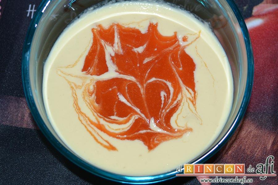 Crema de papaya, sugerencia de presentación