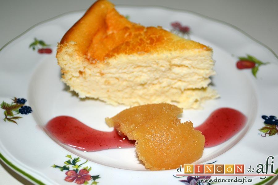 Tarta de queso japonesa, sugerencia de presentación