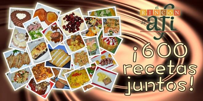¡600 recetas, hasta el infinito y más allá!