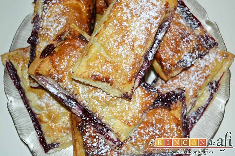 Empanadillas de cerezas y chocolate, sugerencia de presentación
