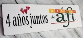 Cuarto aniversario de El Rincón de Afi