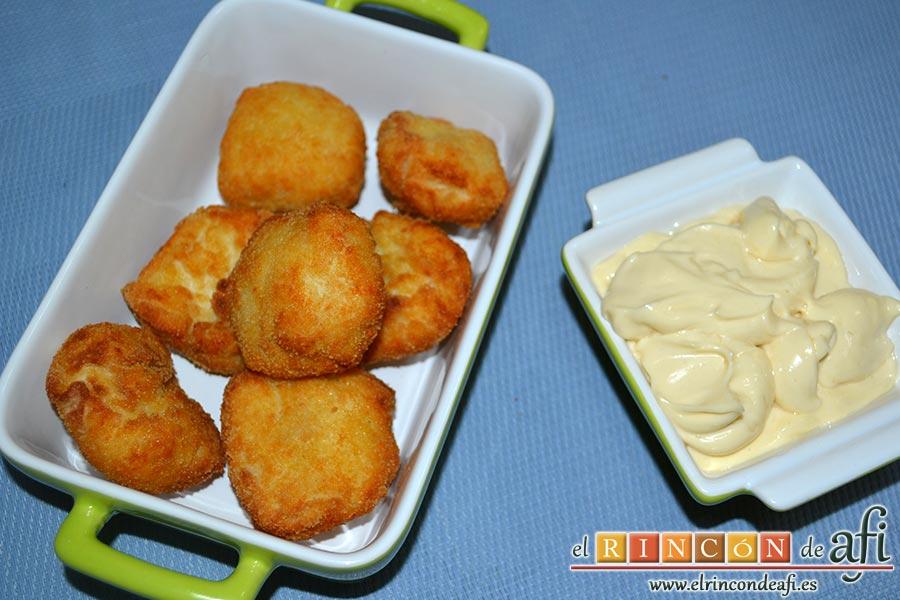 Nuggets de pollo, sugerencia de presentación