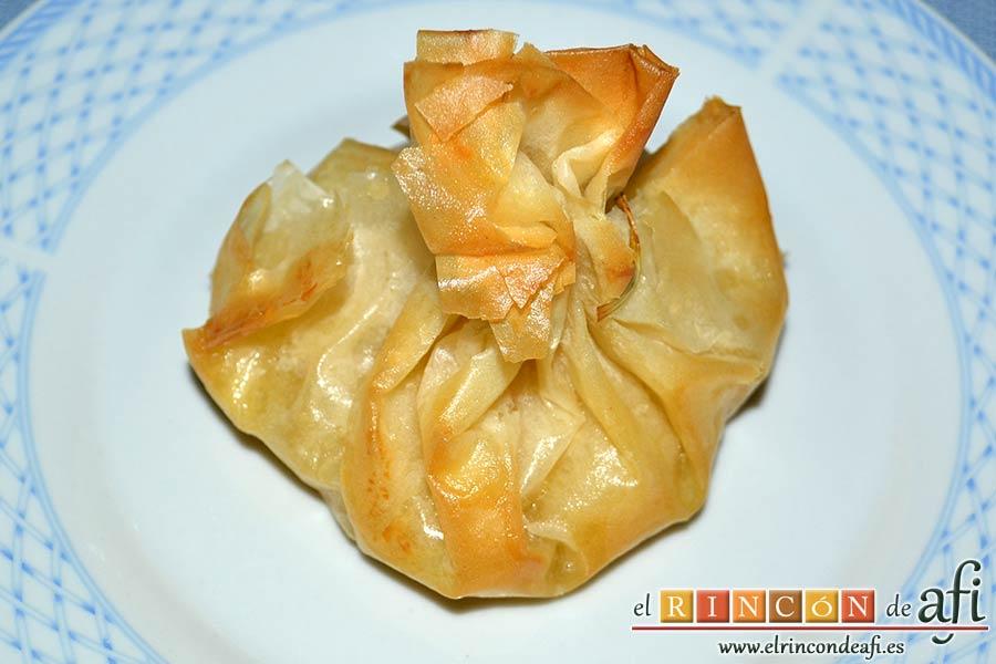 Saquitos de pera y manzana