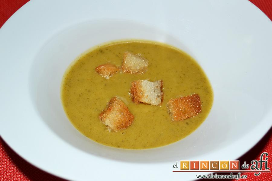 Crema de verduras con curry