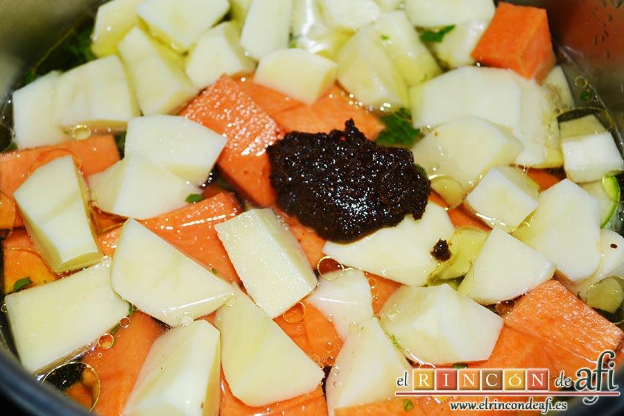 Crema de verduras con curry, añadir una buena cucharada de curry