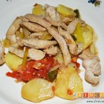 Pollo con verduras y salsa teriyaki