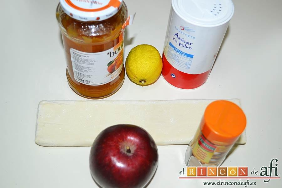 Rosas de manzana, preparamos los ingredientes