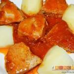 Bonito listado con tomate