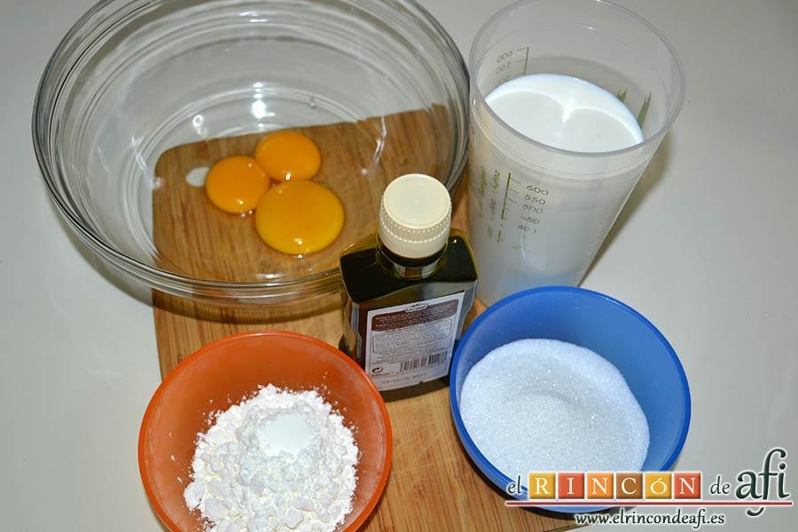 Crema pastelera al microondas, preparar los ingredientes