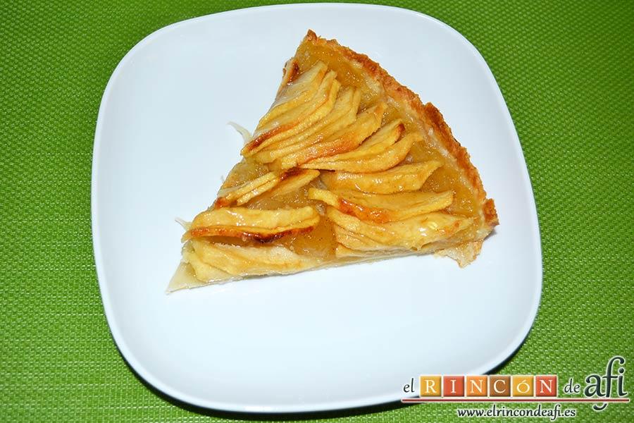 Tarta de manzana especial, sugerencia de presentación
