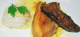 Costillas de cerdo con curry y miel