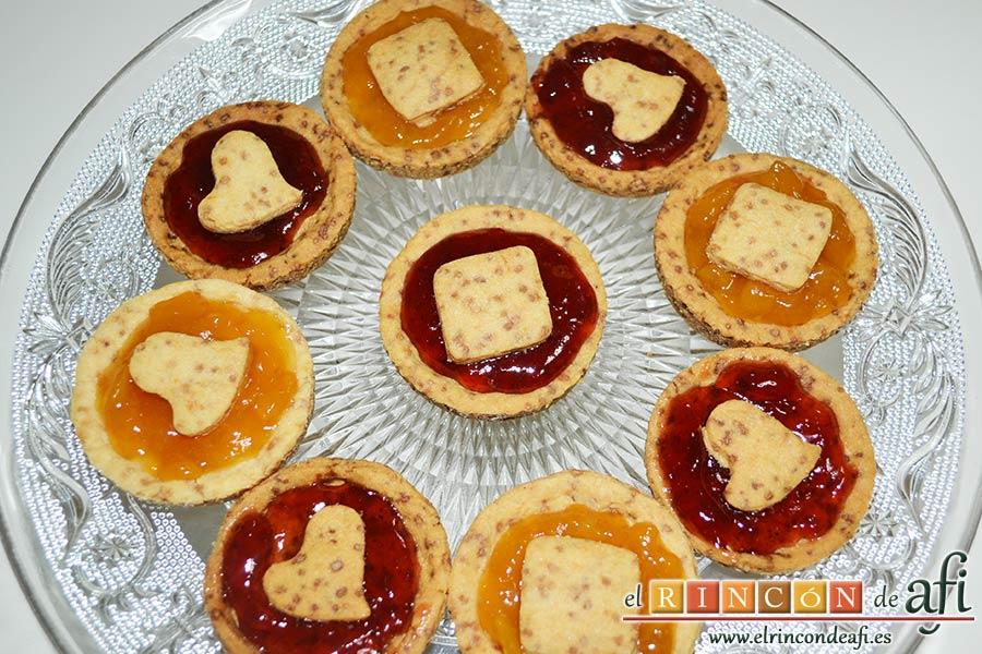 Minitartaletas de mermelada de Lorraine Pascale