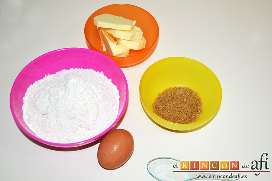 Minitartaletas de mermelada de Lorraine Pascale, preparar los ingredientes