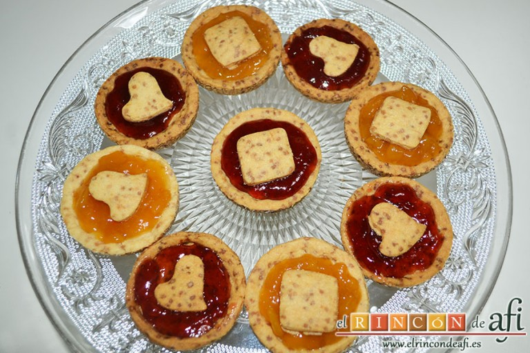 Minitartaletas de mermelada de Lorraine Pascale, sugerencia de presentación