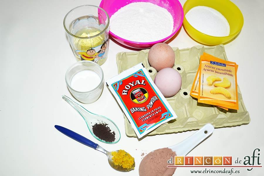 Chocoflan, preparar los ingredientes del bizcocho