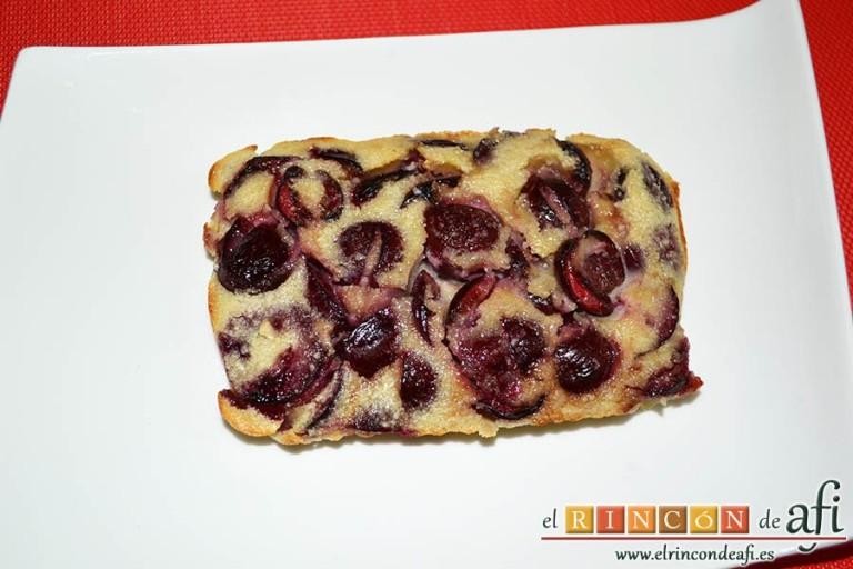 Clafoutis de cerezas, sugerencia de presentación