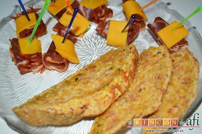 Pan de jamón, queso y cebollino del siglo XXI de Lorraine Pascale, sugerencia de presentación