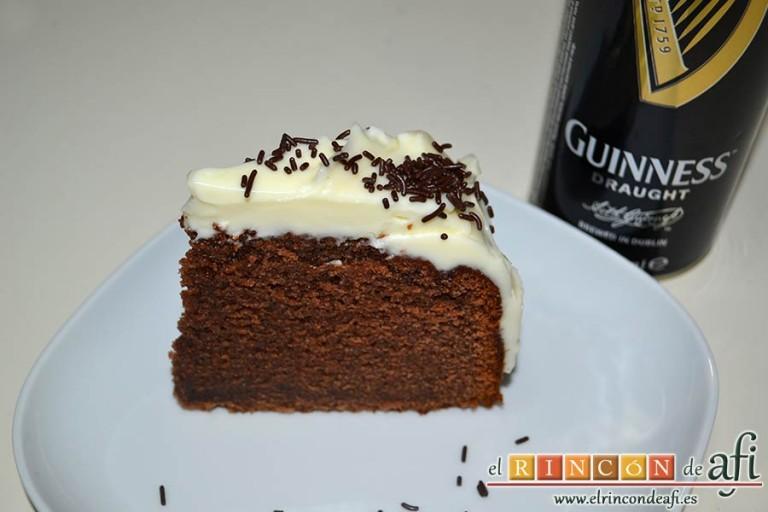 Tarta Guinness, sugerencia de presentación