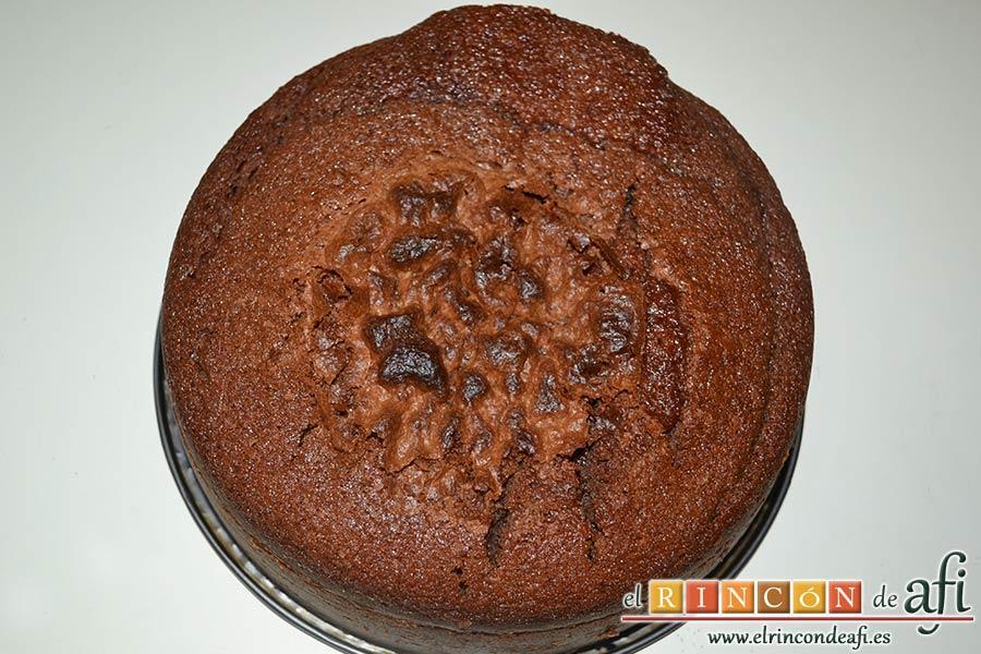 Tarta Guinness, tras hornearla, dejar enfriar