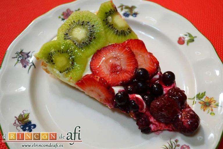 Hojaldre con frutas variadas, sugerencia de presentación