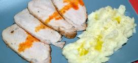 Lomo de cerdo embarrado con especias al horno