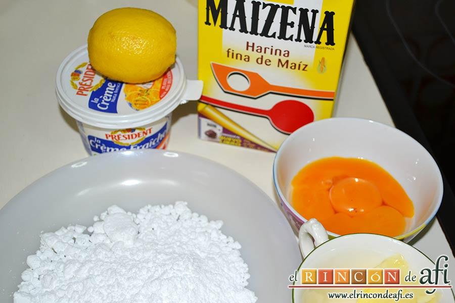 Pudin de limón, preparar los ingredientes