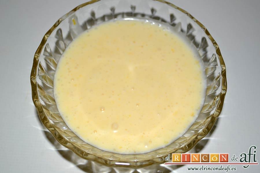 Pudin de limón, rellenamos los moldes elegidos unas tres cuartas partes