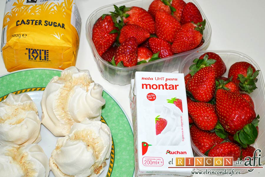Eton mess, preparar los ingredientes