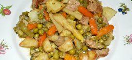 Menestra de verduras con carne de ternera