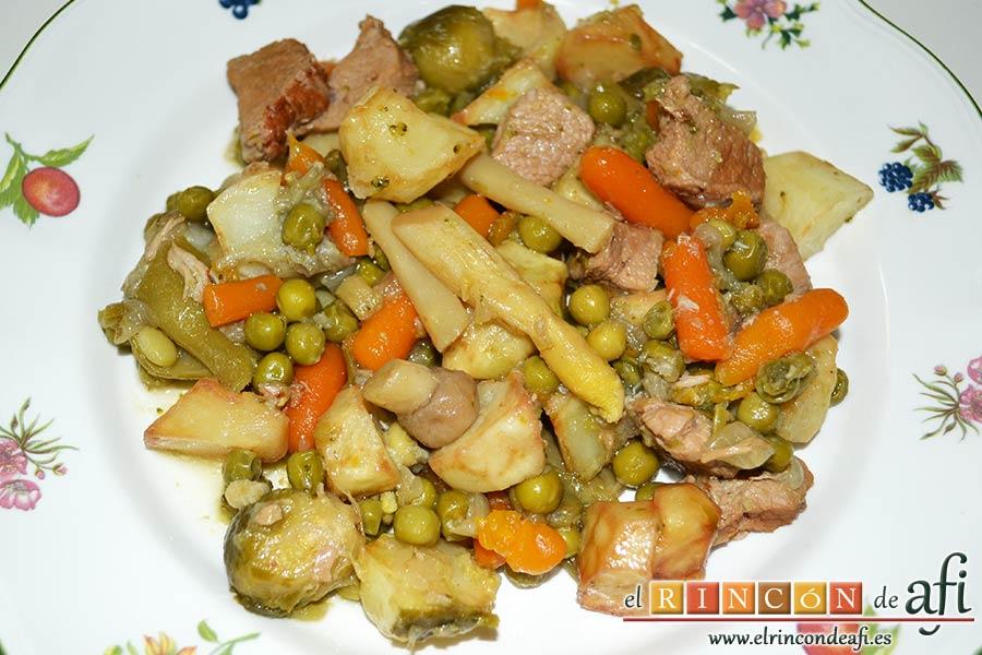 Menestra de verduras con carne de ternera - Hacer menestra de verduras ...